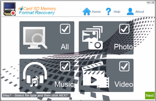 Click to view 4Card SD Memoery Format Recovery screenshots