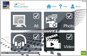 4Card Recovery full screenshot